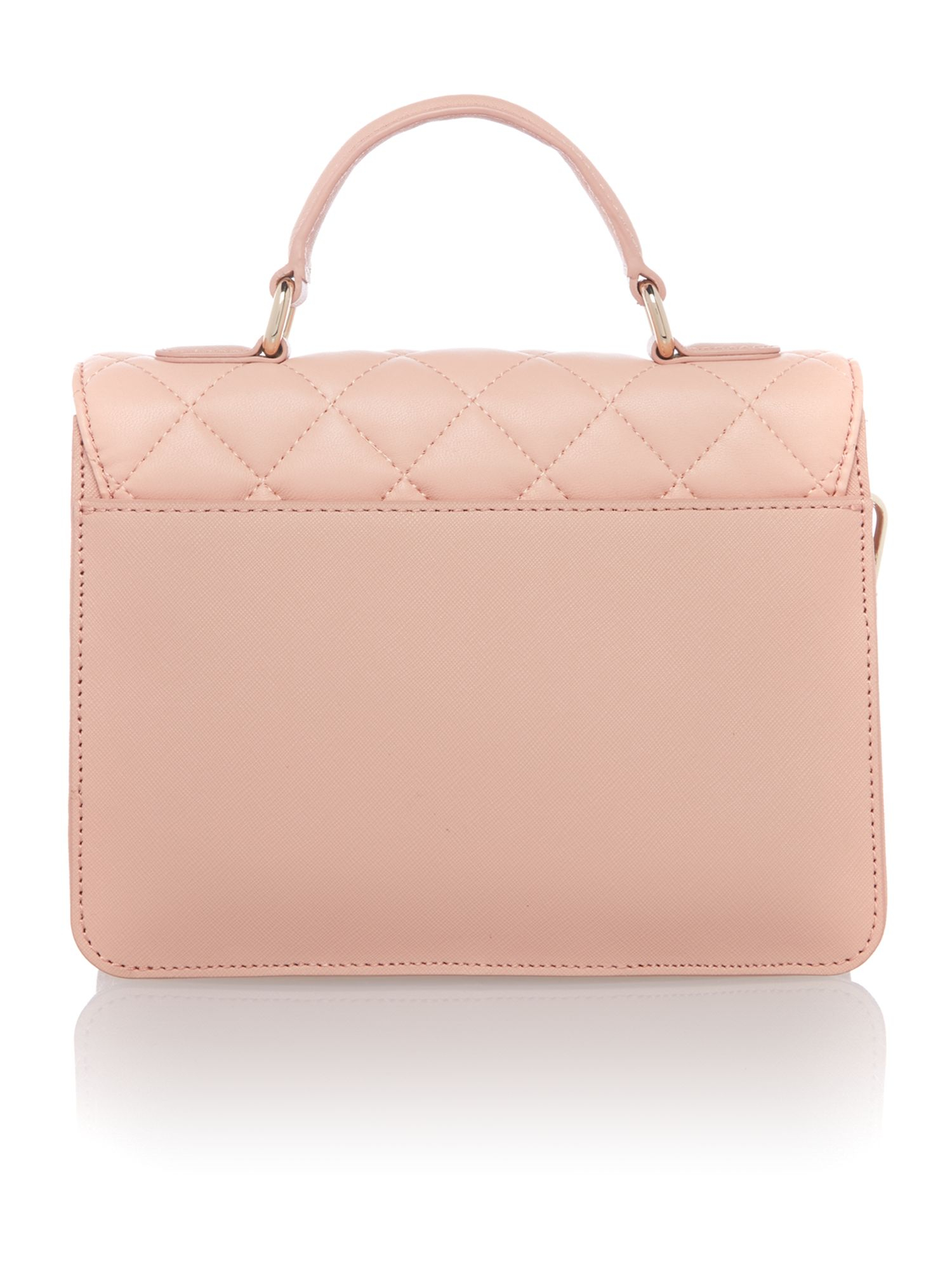 DKNY Gansevoort Light Pink Quilted Flap Over Crossbody