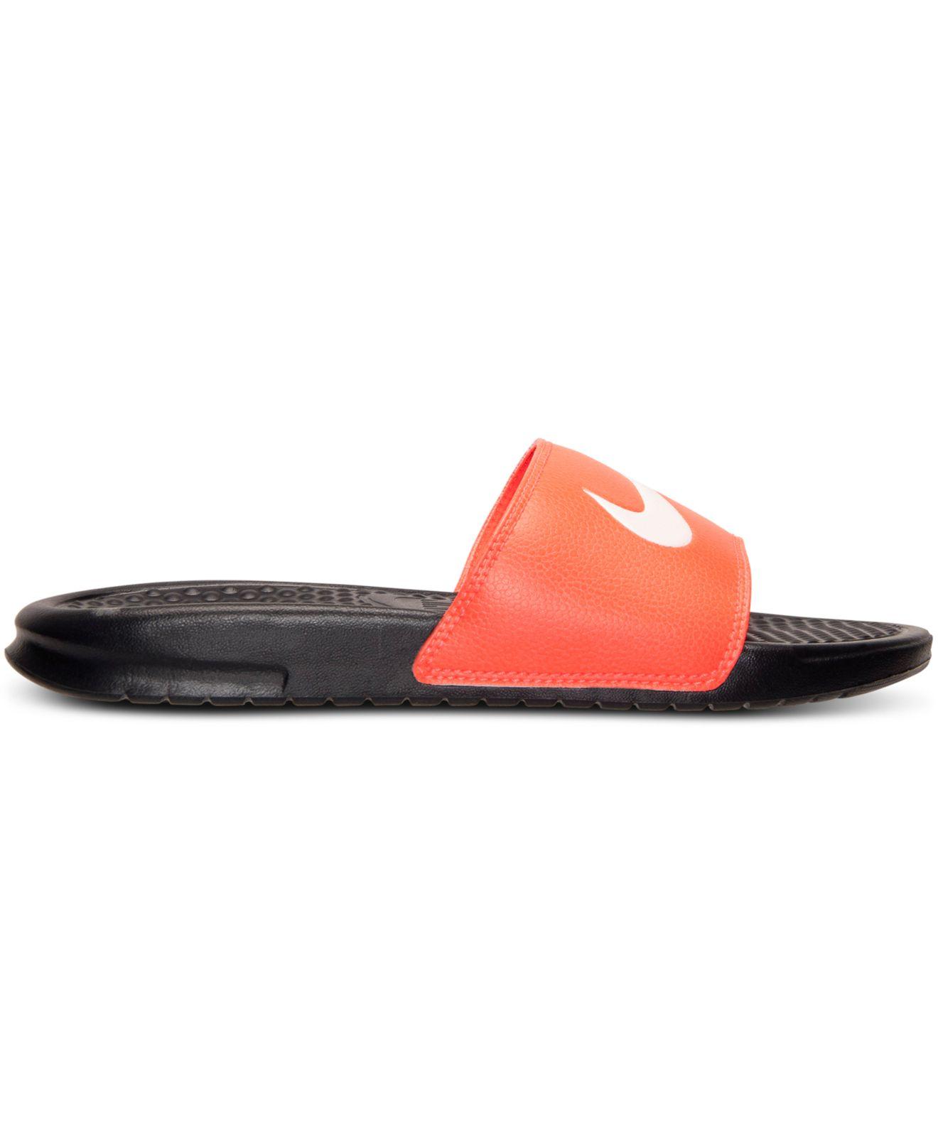 Lyst Nike Men S Benassi Swoosh Slide Sandals From Finish