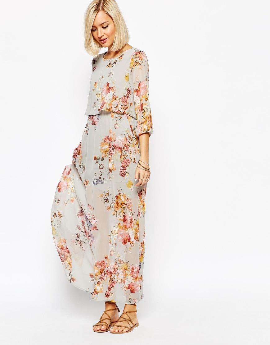 f34c953df3f Vero Moda Floral Boho Maxi Dress - Lyst
