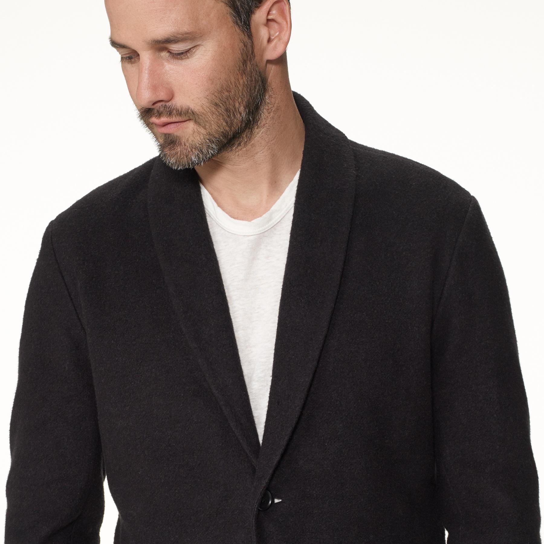 0cd2ac27 James Perse Black Shawl Collar Knit Blazer for men
