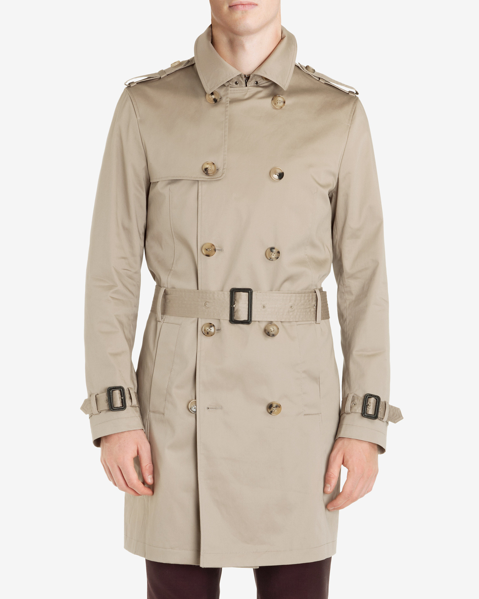 4bf30860ca8355 Lyst - Ted Baker Belted Trench Coat in Natural for Men