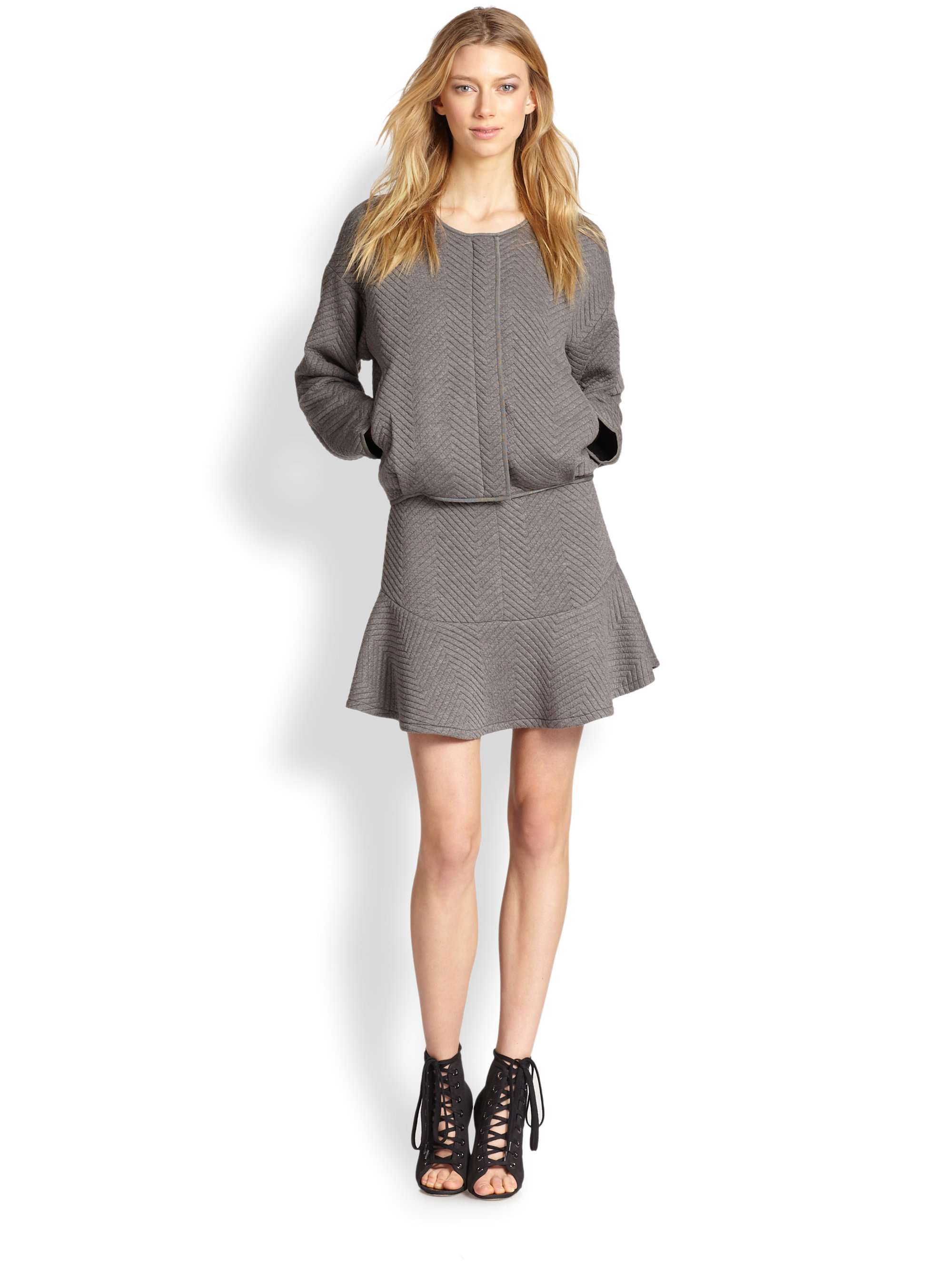 Lyst Line Amp Dot Daria Jacket In Gray