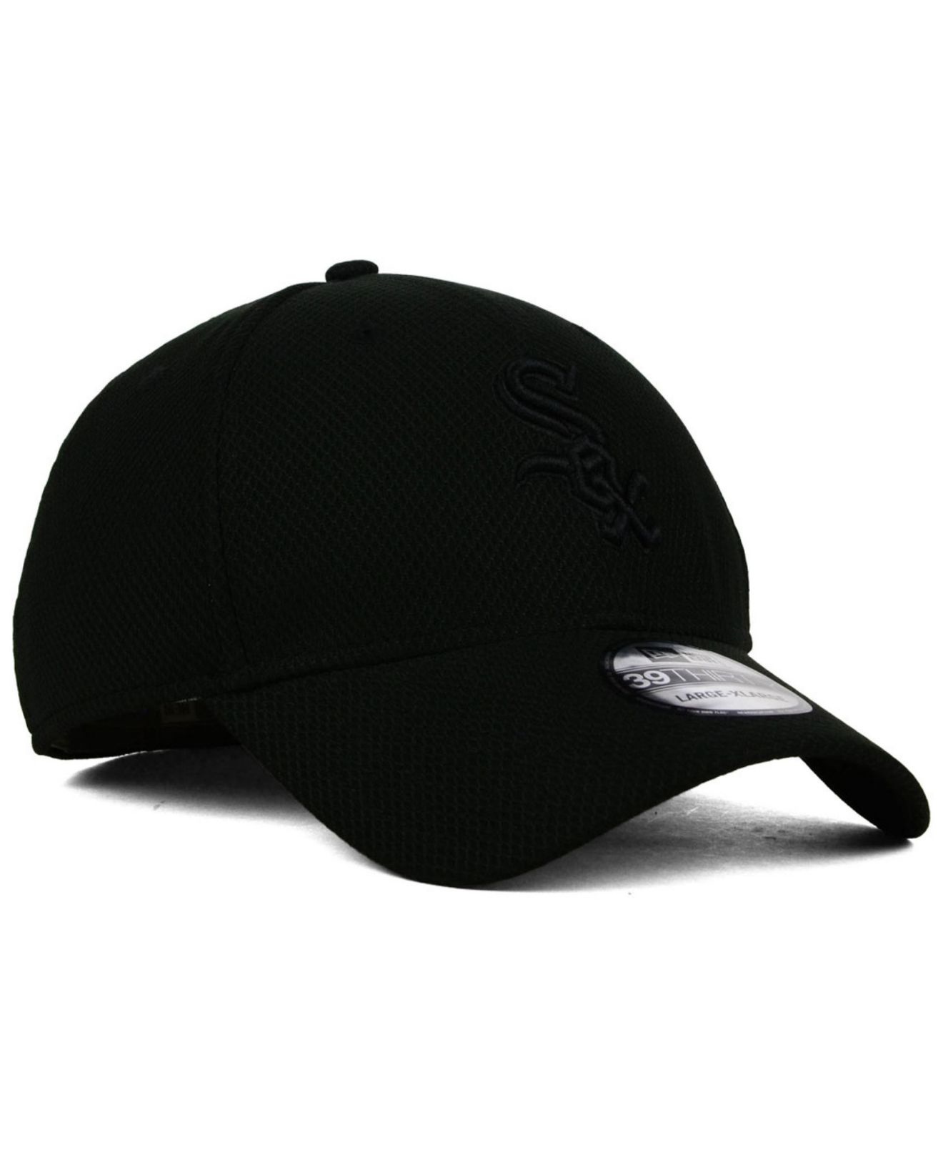 Lyst - KTZ Chicago White Sox Black Diamond Era 39thirty Cap in Black ... d111262f0c9