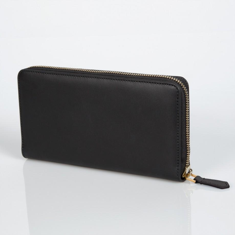 Paul smith Women's Large Black Zip-around Calf Leather ...