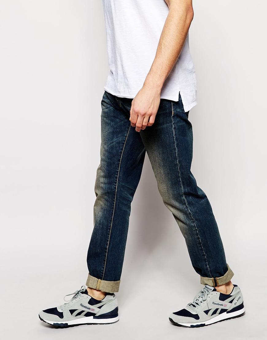 carhartt buccaneer jeans tapered fit in blue for men lyst. Black Bedroom Furniture Sets. Home Design Ideas