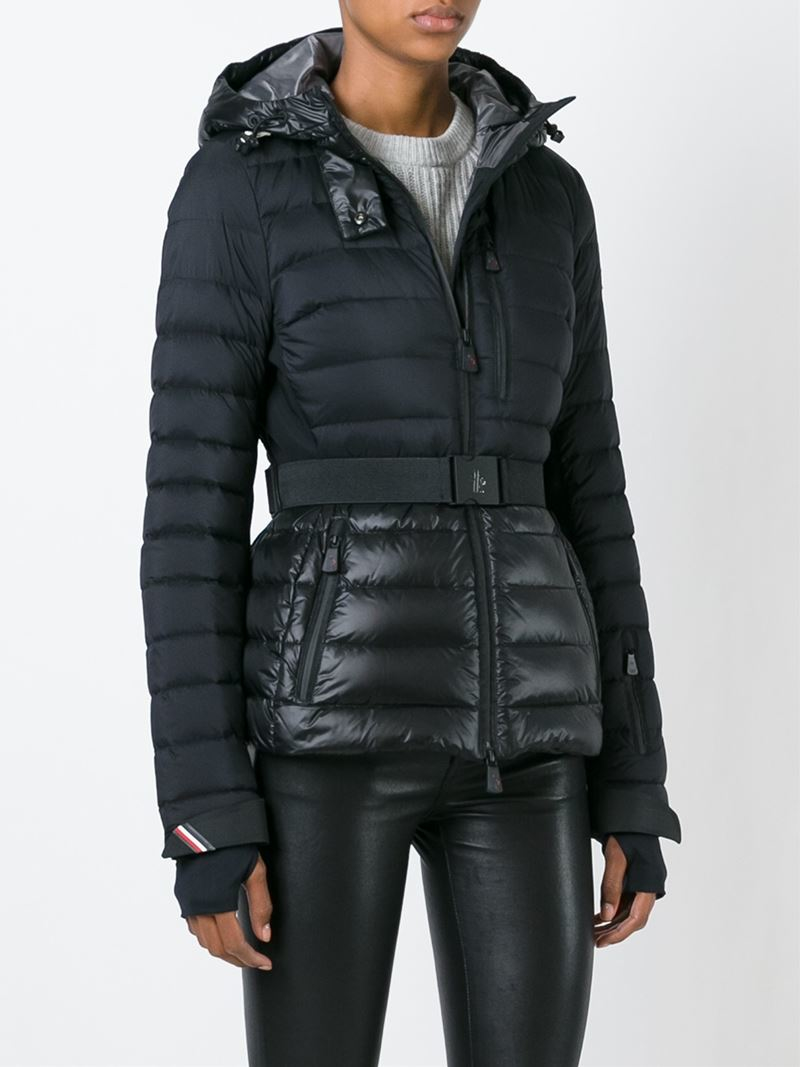 Lyst Moncler Grenoble Fitted Padded Jacket In Blue
