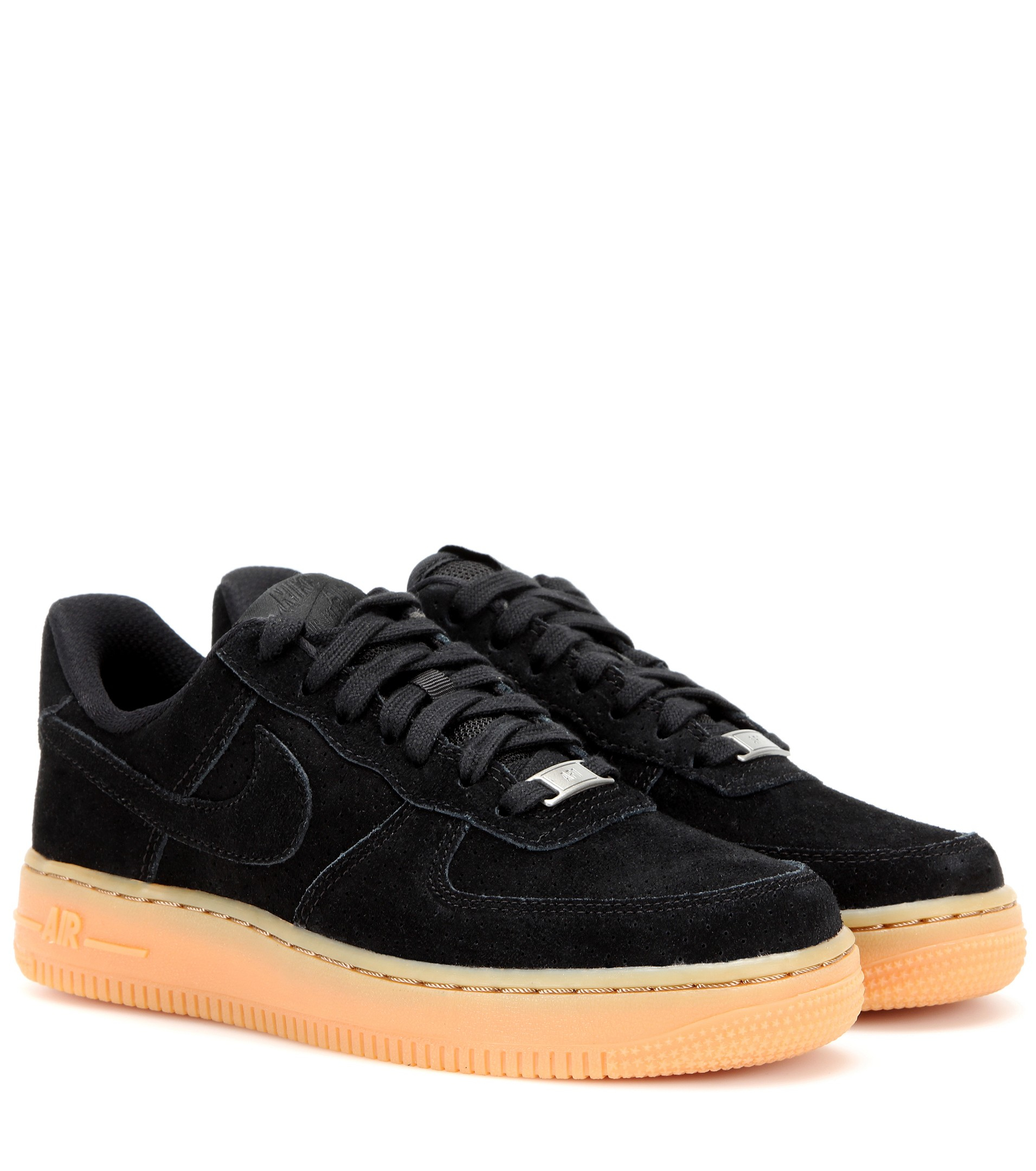 nike air force 1 suede sneakers in black lyst. Black Bedroom Furniture Sets. Home Design Ideas