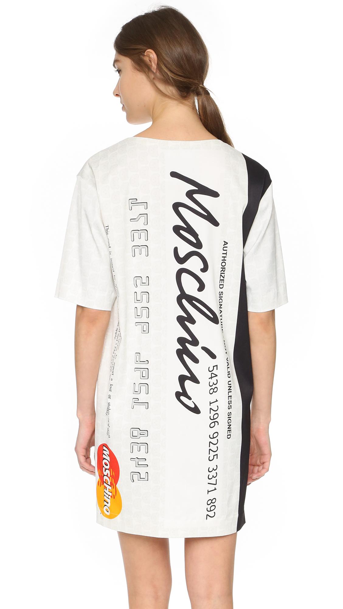 Moschino T-shirt Dress in White | Lyst