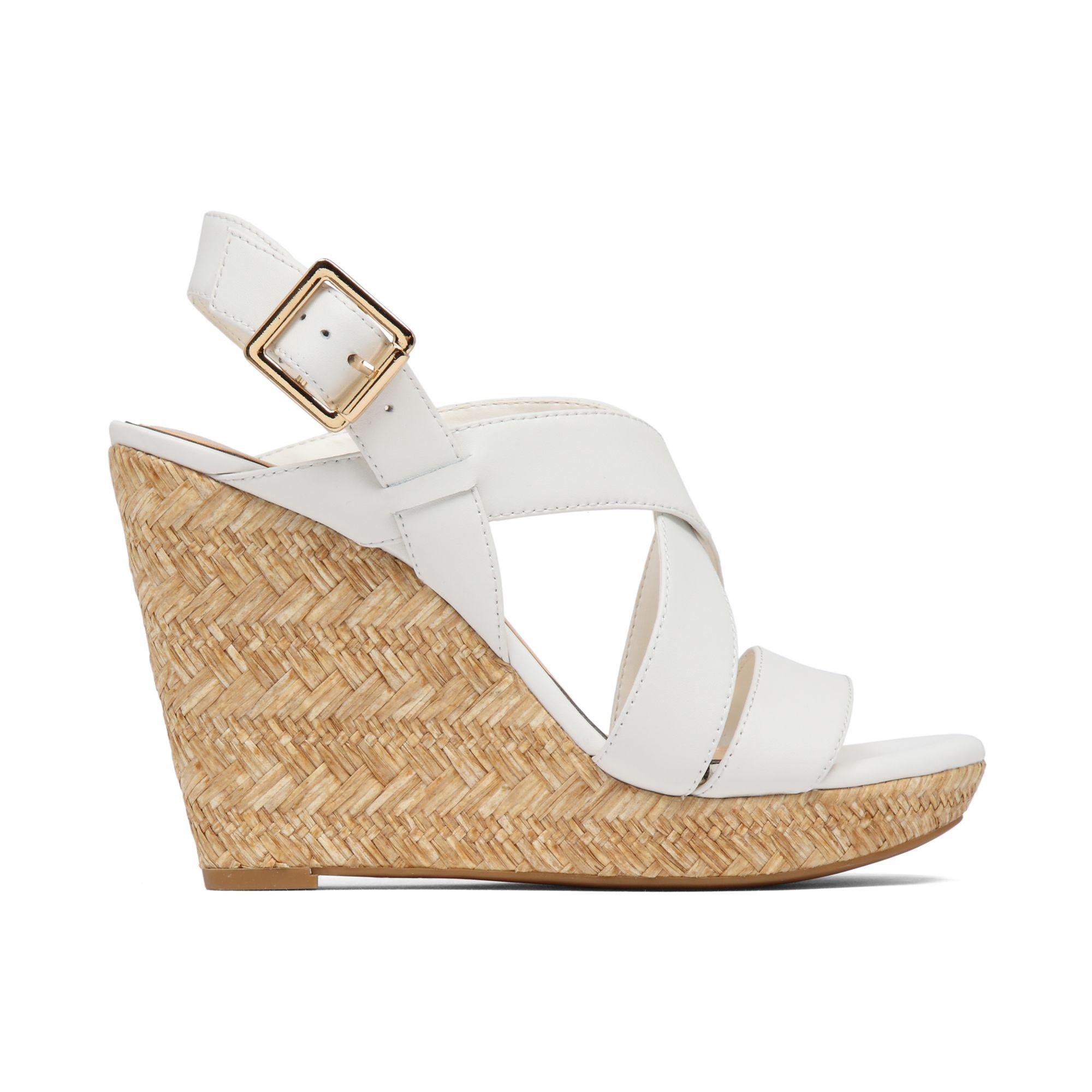 Lyst Jessica Simpson Jerrimo Platform Wedge Sandals In White