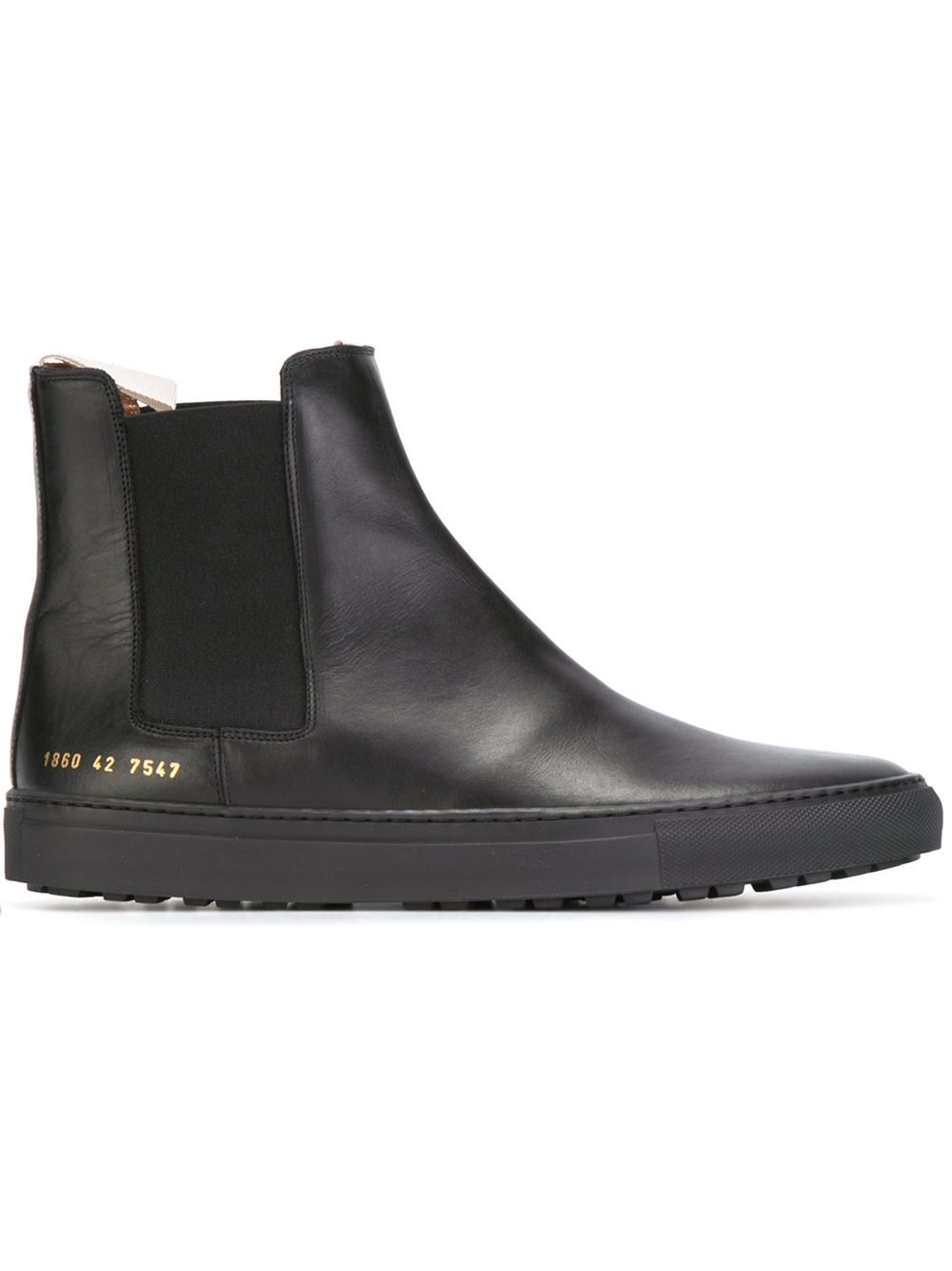 Common Projects Leather Chelsea Boots In Black For Men Lyst