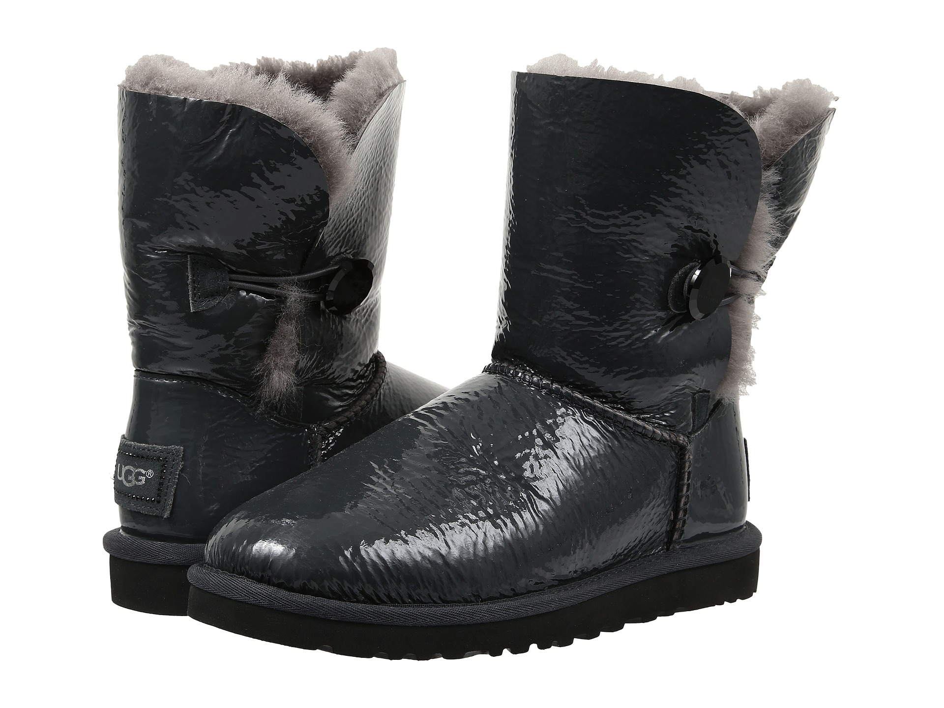 Womens Boots UGG Bailey Button Mirage Sterling Twinface
