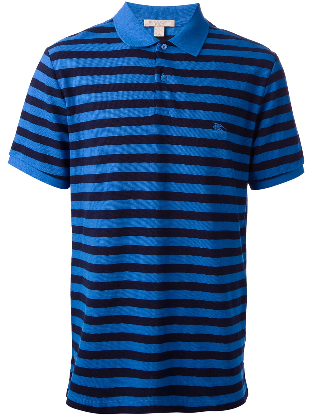 Burberry Brit Striped Polo Shirt In Blue For Men Lyst