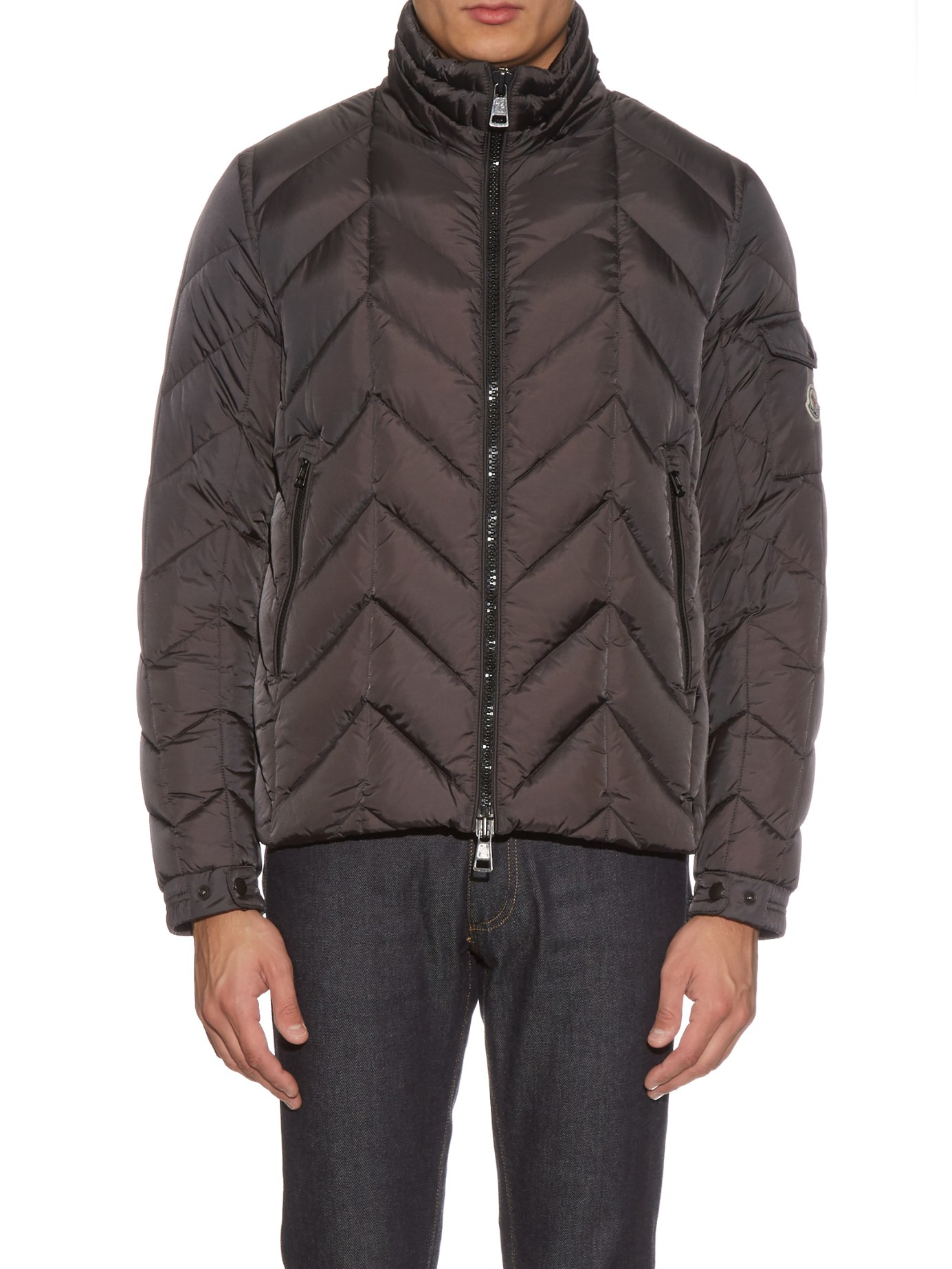 Moncler Berriat Quilted-down Jacket in Gray for Men | Lyst