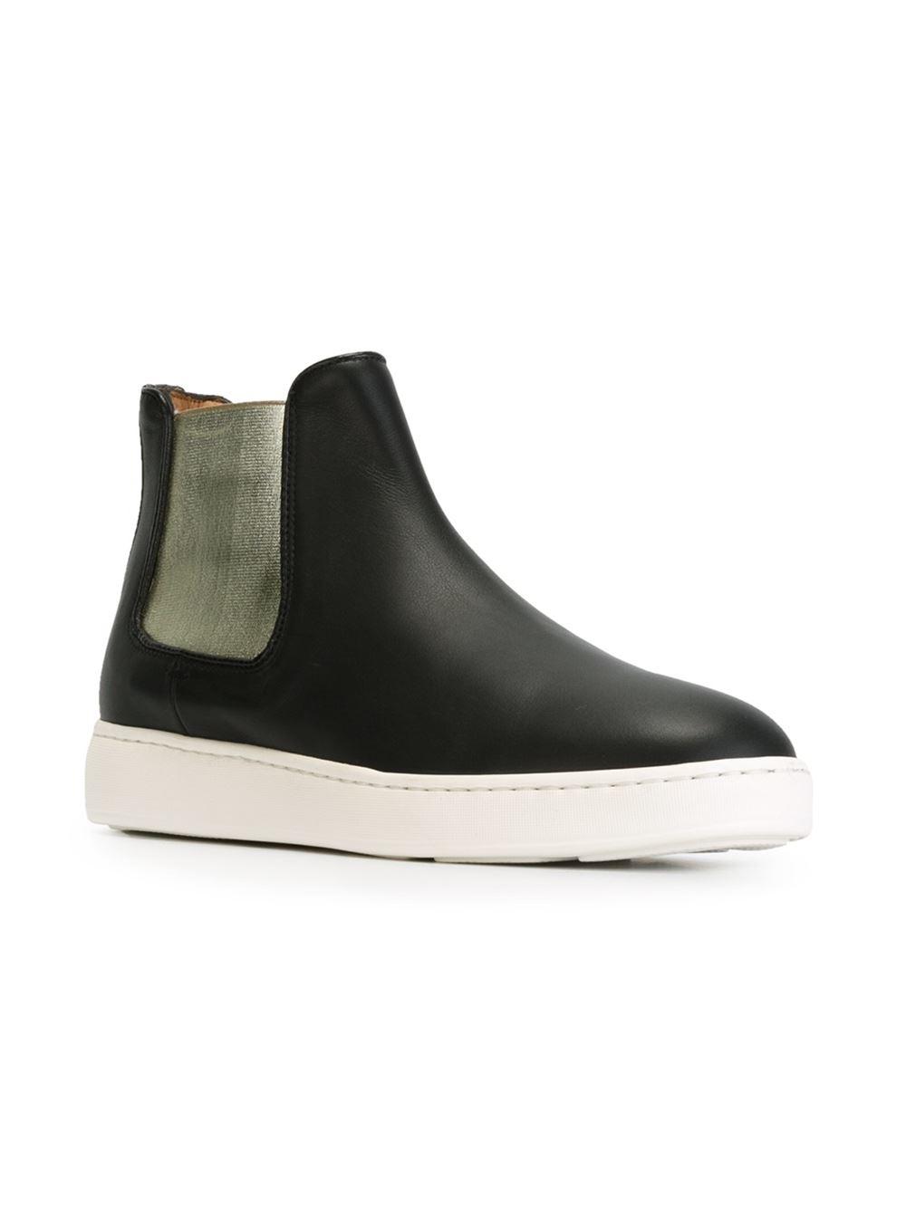 Santoni Chelsea Style Sneakers in Black