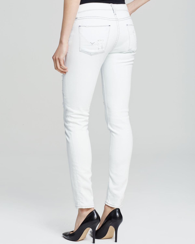 Hudson jeans Nico Mide-rise Super Skinny Jeans In Jalama in White ...