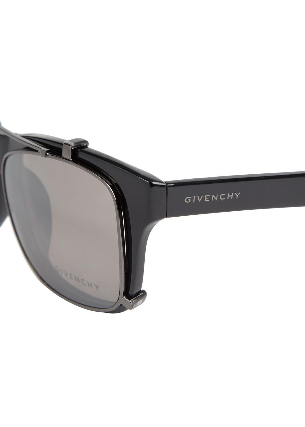 441931660abd Givenchy Square Frame Clip Lens Sunglasses in Black - Lyst