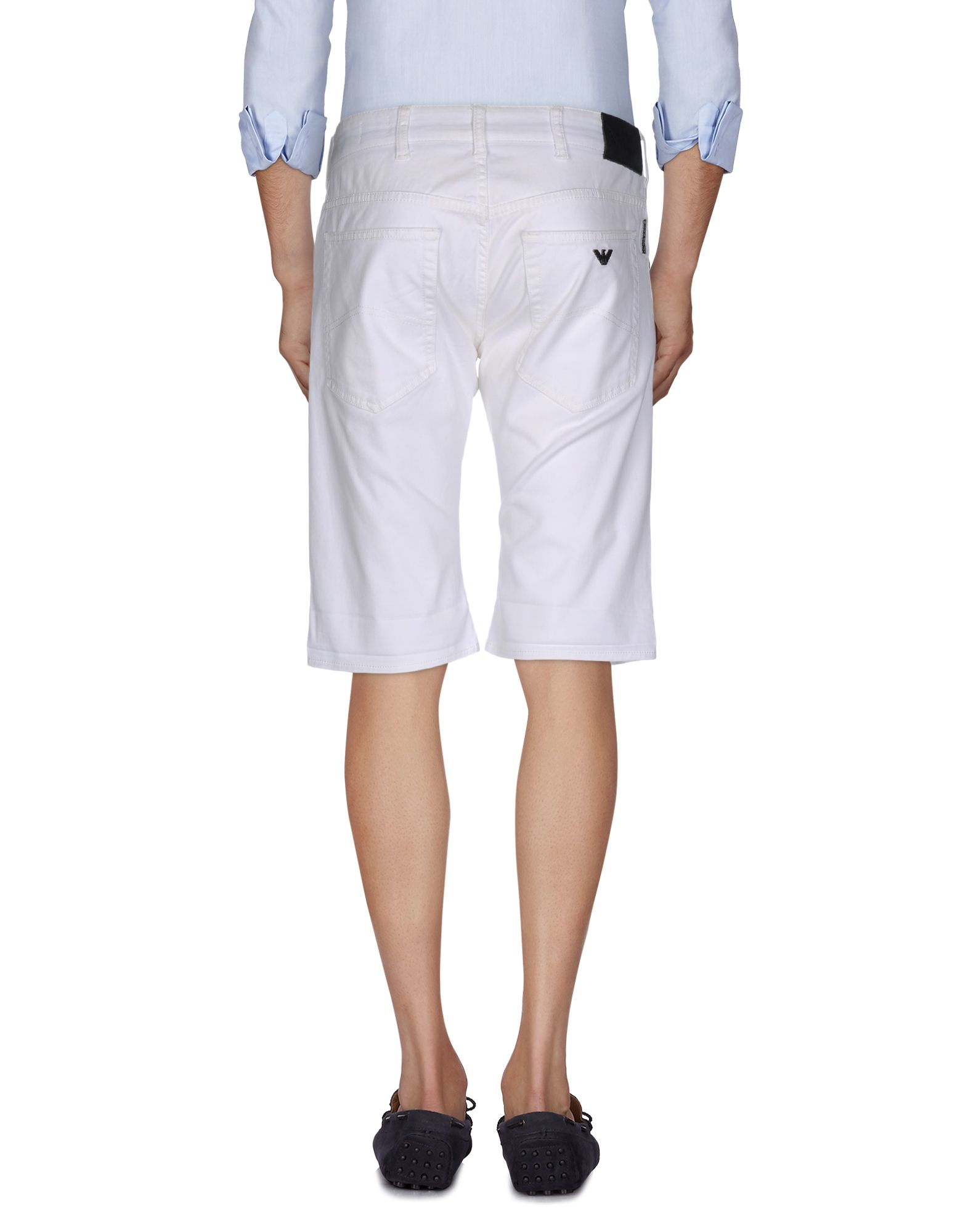 armani bermuda shorts in white for lyst