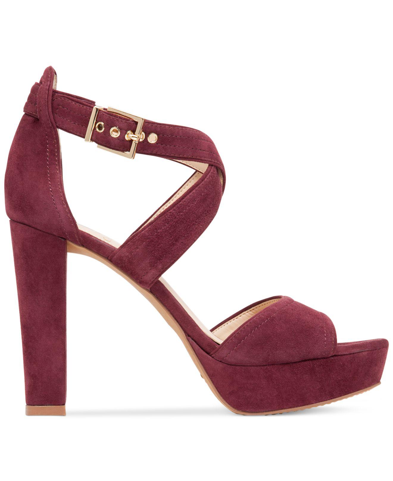 vince camuto shayla platform sandals in purple
