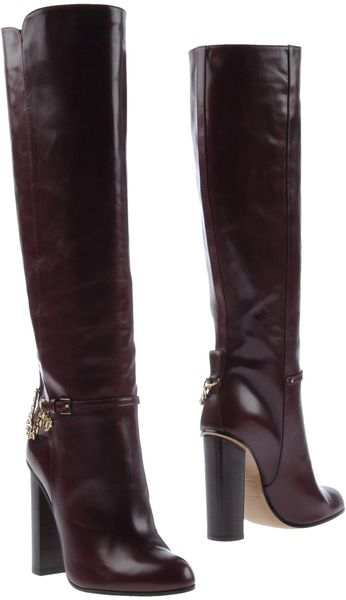 dsquared2 high heeled boots in purple maroon lyst