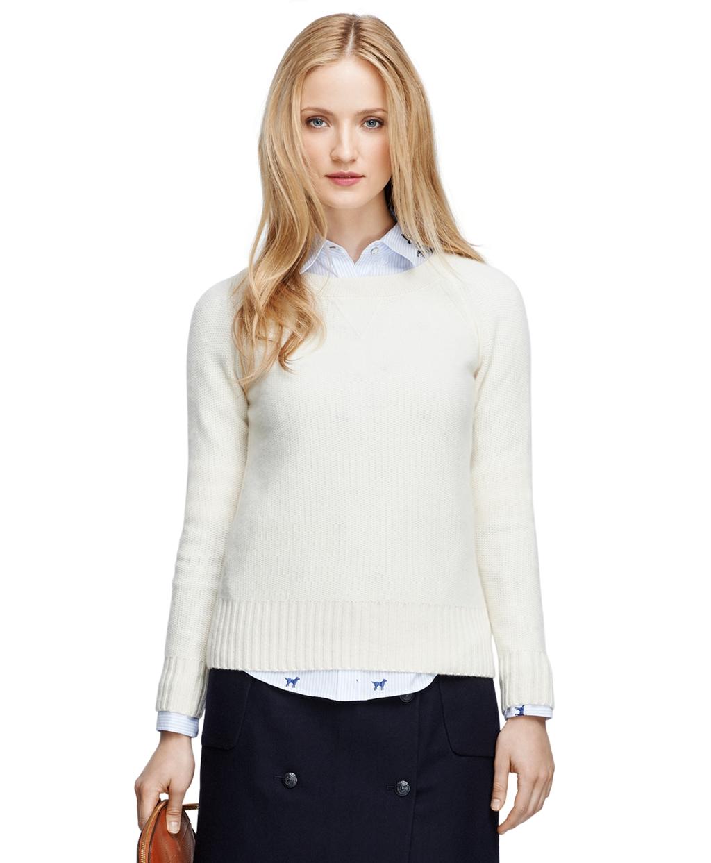 White Cashmere Cardigan Sweater