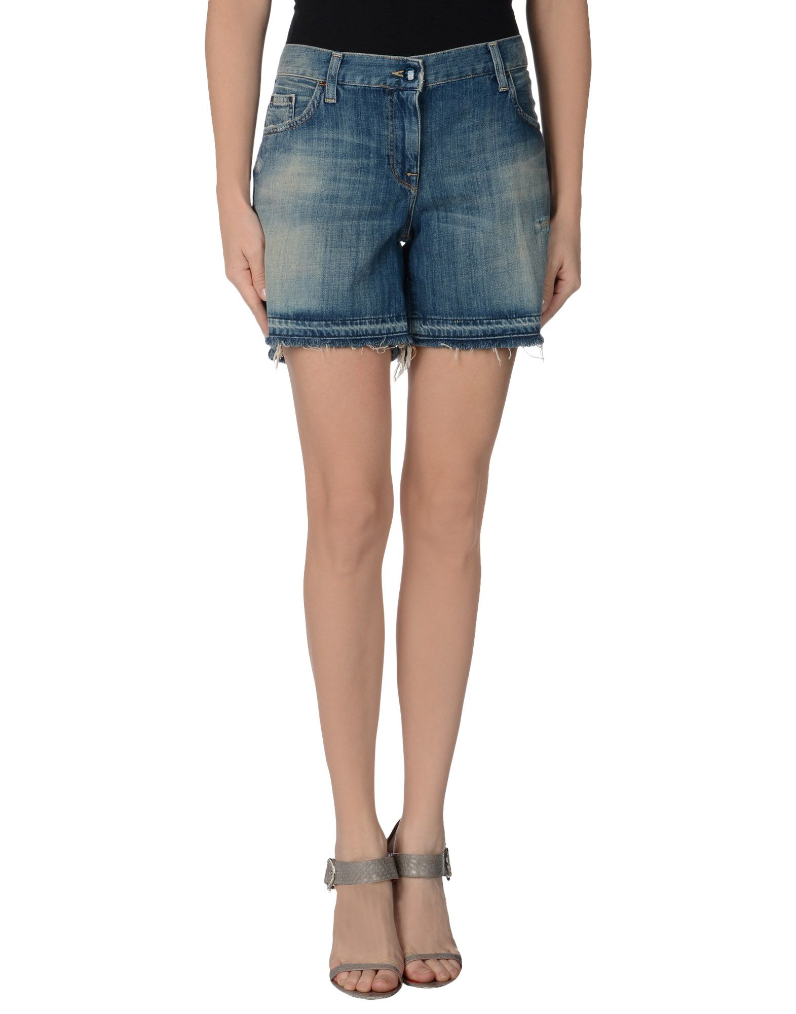 armani jeans denim bermudas in blue lyst. Black Bedroom Furniture Sets. Home Design Ideas