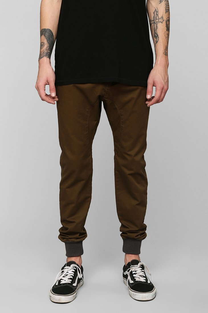 Innovative Forever 21 Coated Chino Joggers In Green For Men  Lyst