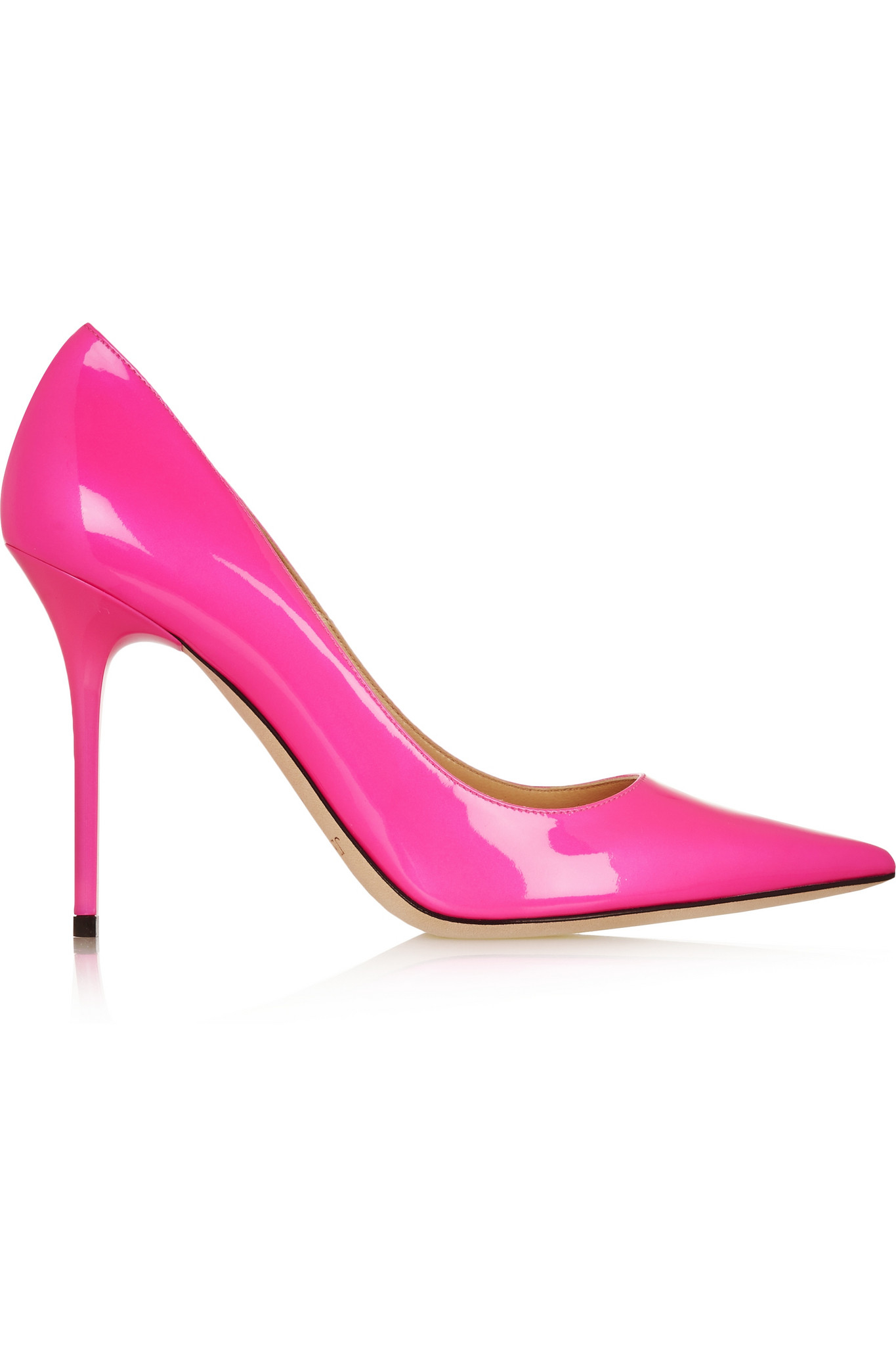 e8fe43c1368 Jimmy Choo Abel Neon Patent-leather Pumps in Pink - Lyst