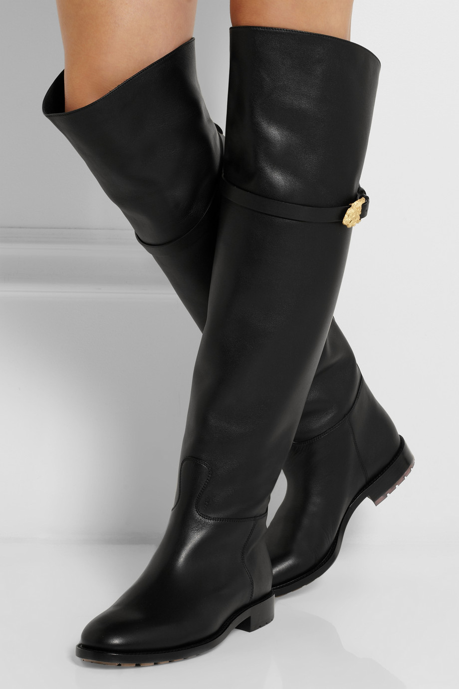 Valentino Garavani Over-the-Knee Leather Boot XisUYS