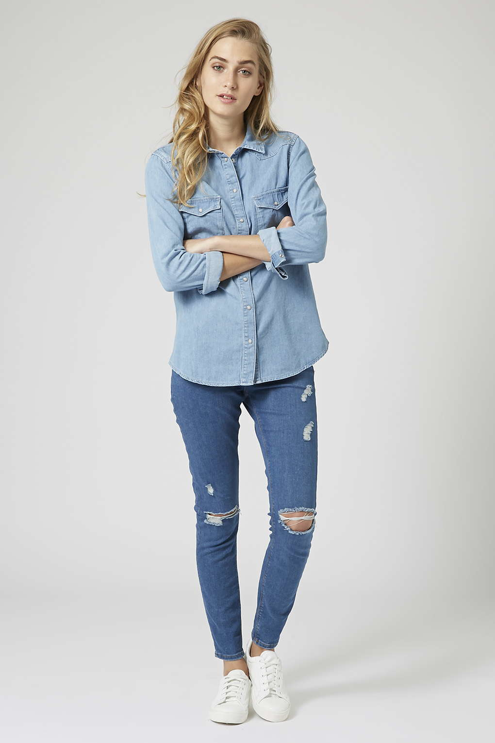 b2a6f211634 Topshop Fitted Denim Shirt – EDGE Engineering and Consulting Limited