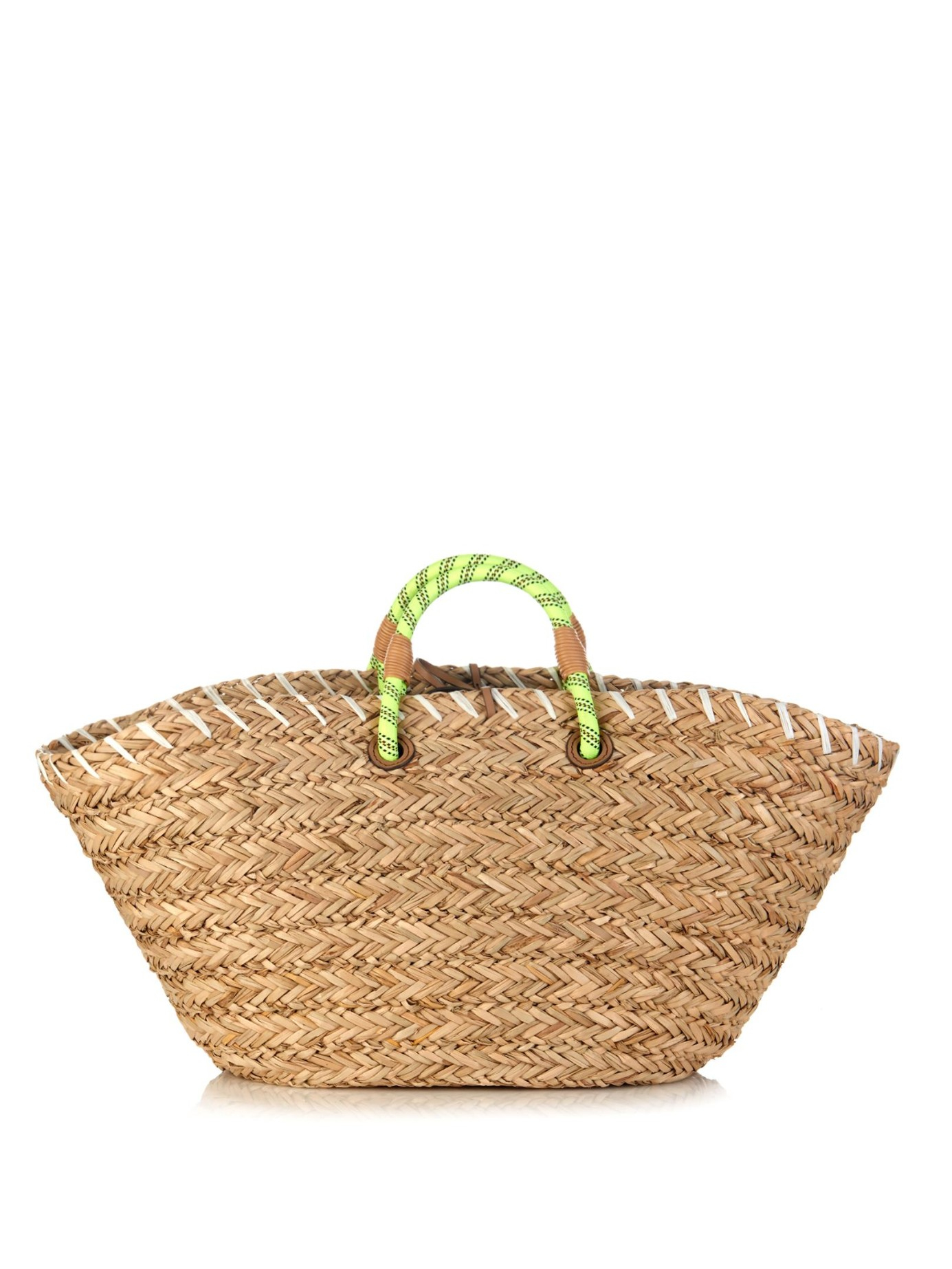 Anya hindmarch Eyes Straw Beach Bag in Brown | Lyst