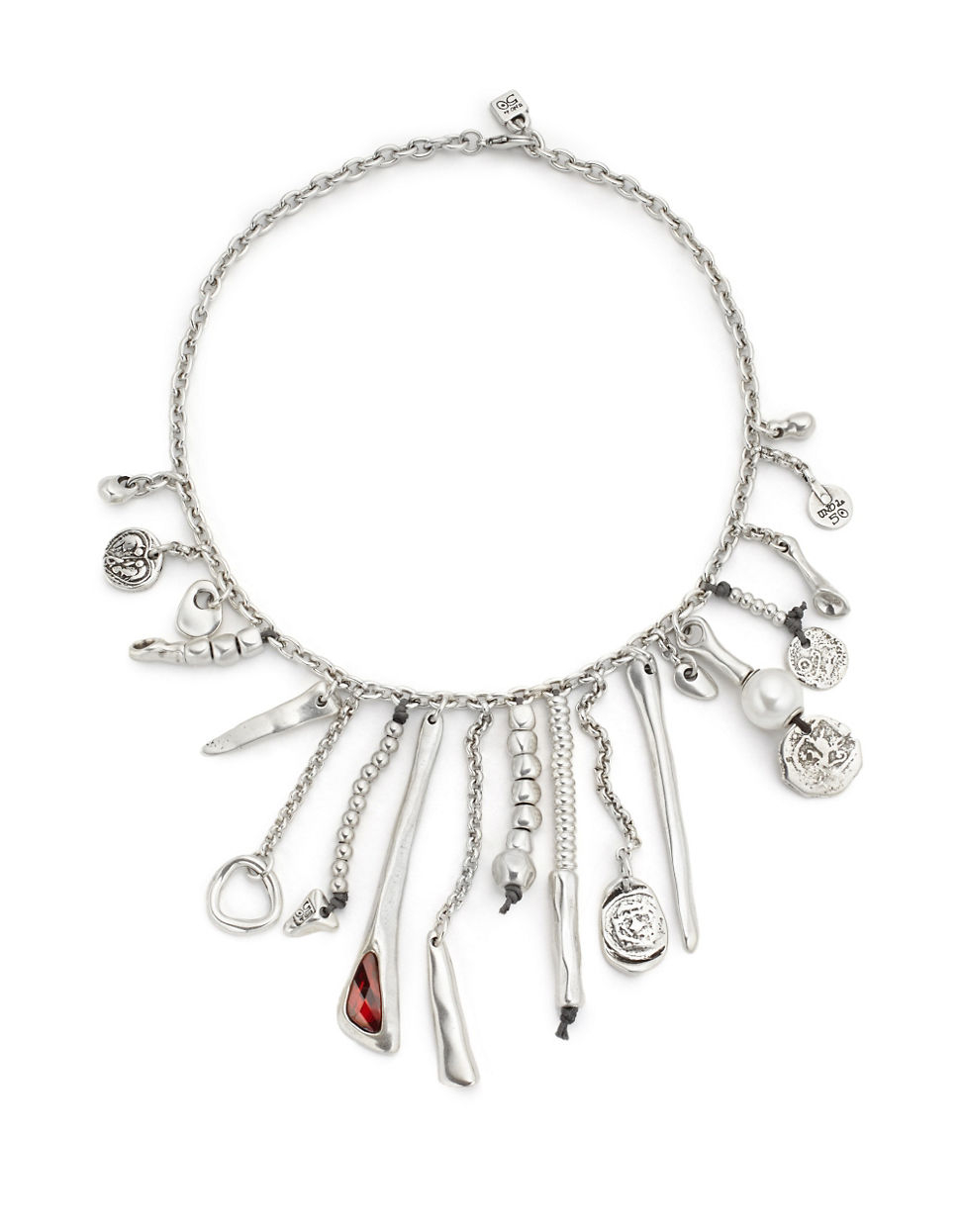 Lyst - Uno De 50 Swarovski Crystal Statement Necklace in Red for Men 5fe25ec1a4