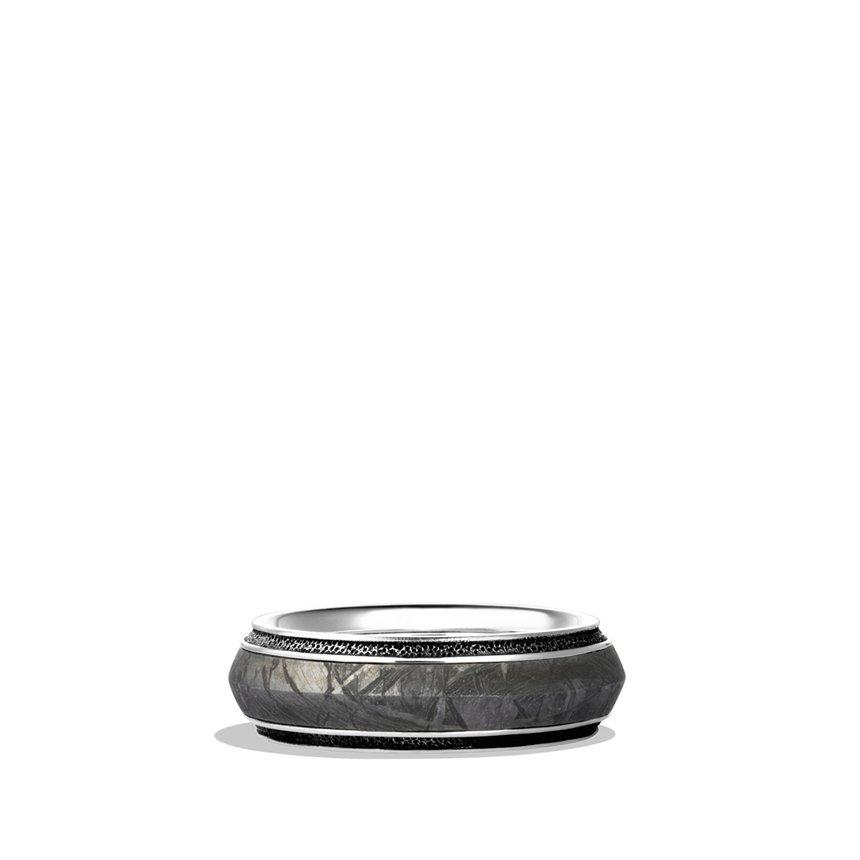 David yurman Knifeedge Band Ring with Meteorite in ...