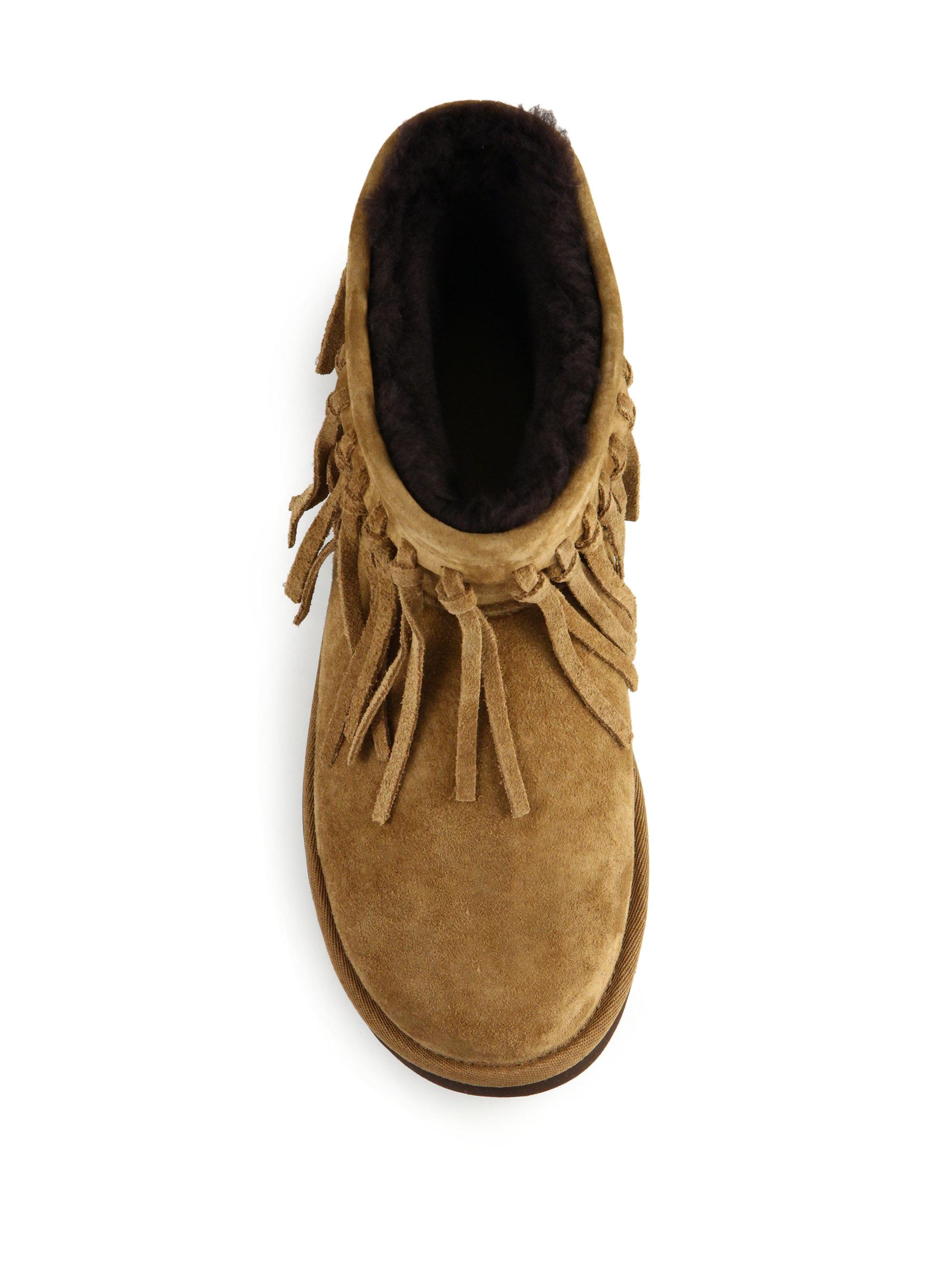 ec6617b731c UGG Brown Wynona Fringed Suede Boots