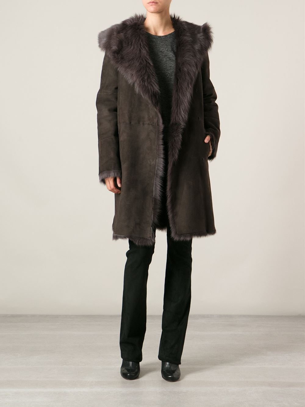 Joseph 'anais' Coat in Brown | Lyst