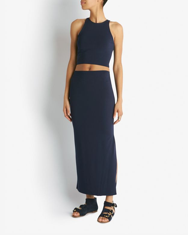 Nadia tarr Exclusive Maxi Pencil Skirt in Blue | Lyst