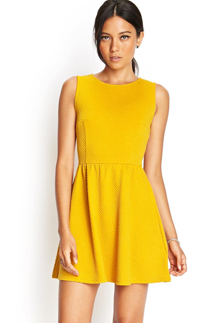 Mustard Yellow Dress Forever 21 Dress Online Uk