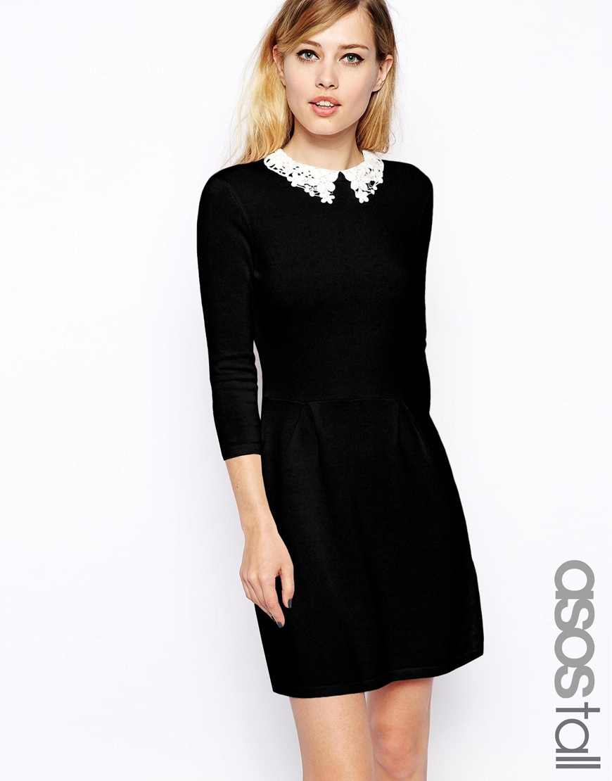 Lace collared dress