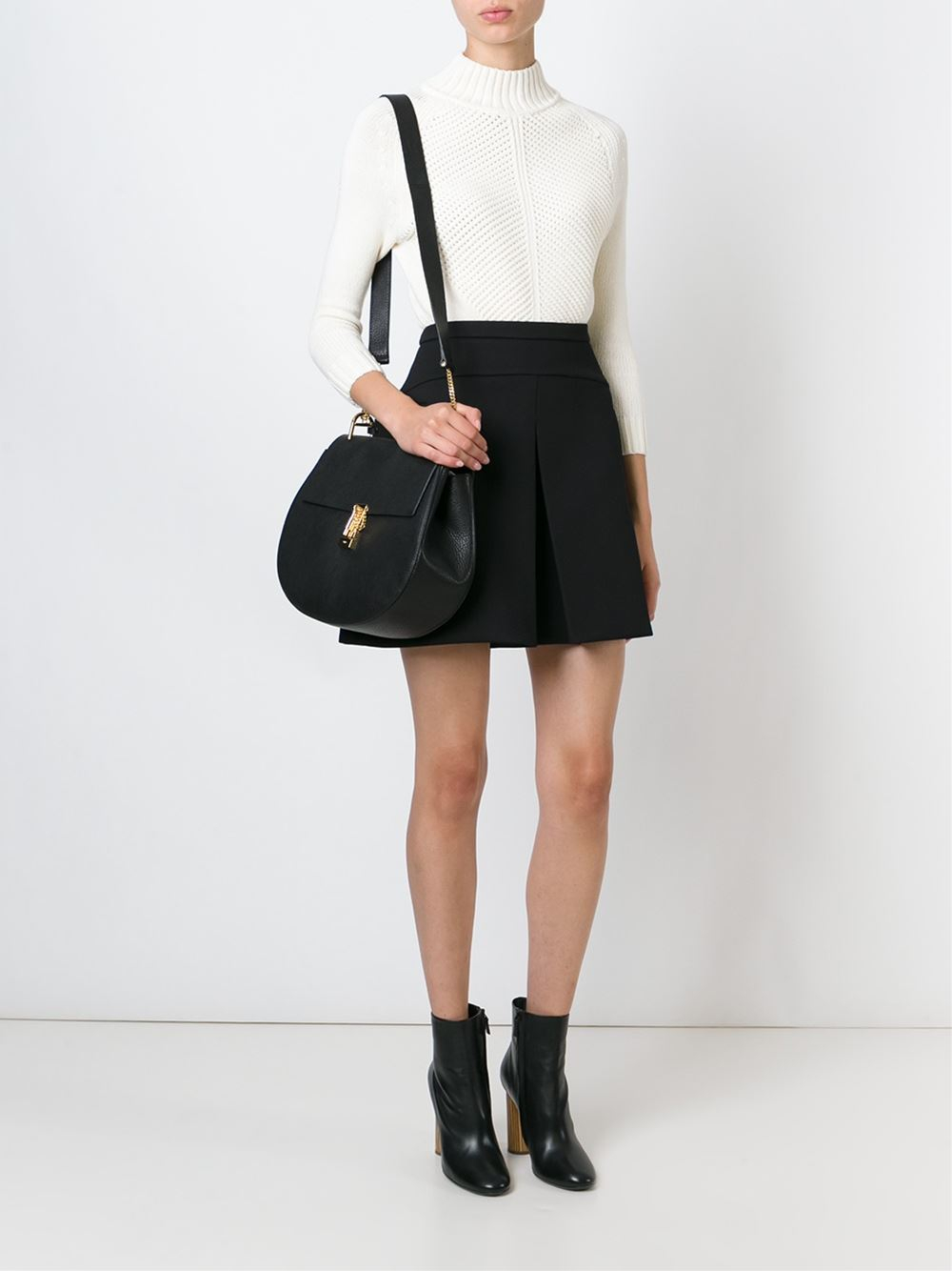 Chloé Large 'Drew' Shoulder Bag in Black | Lyst