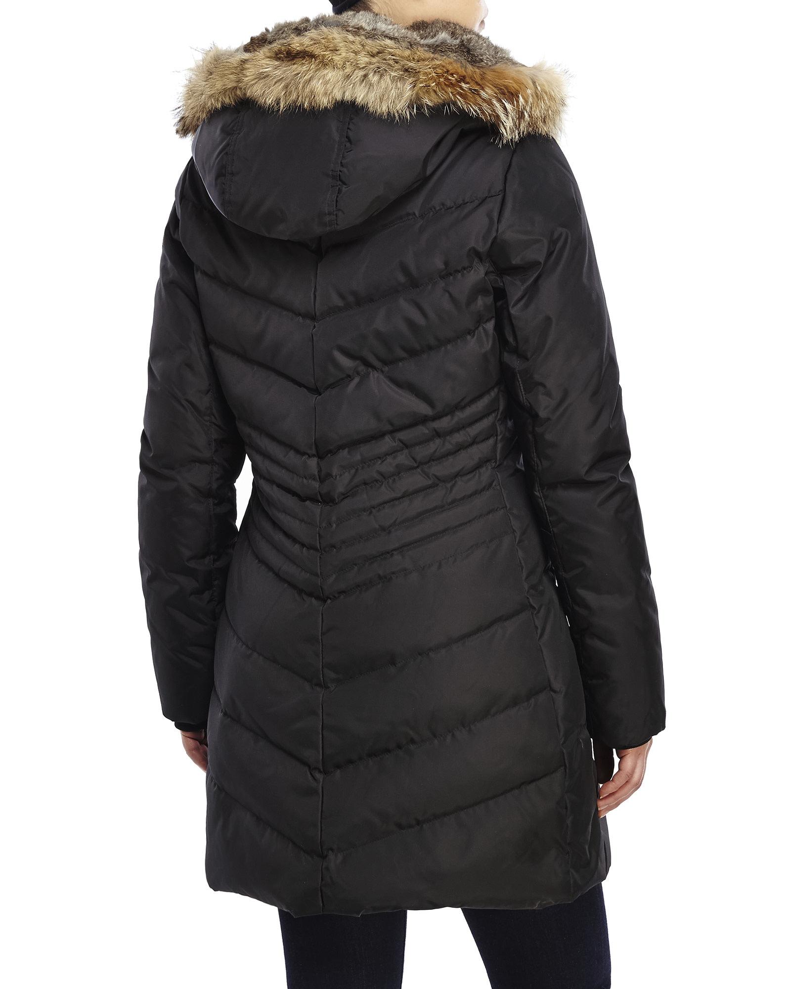 Pajar Brooklyn Real Fur Trim Down Parka In Black Lyst