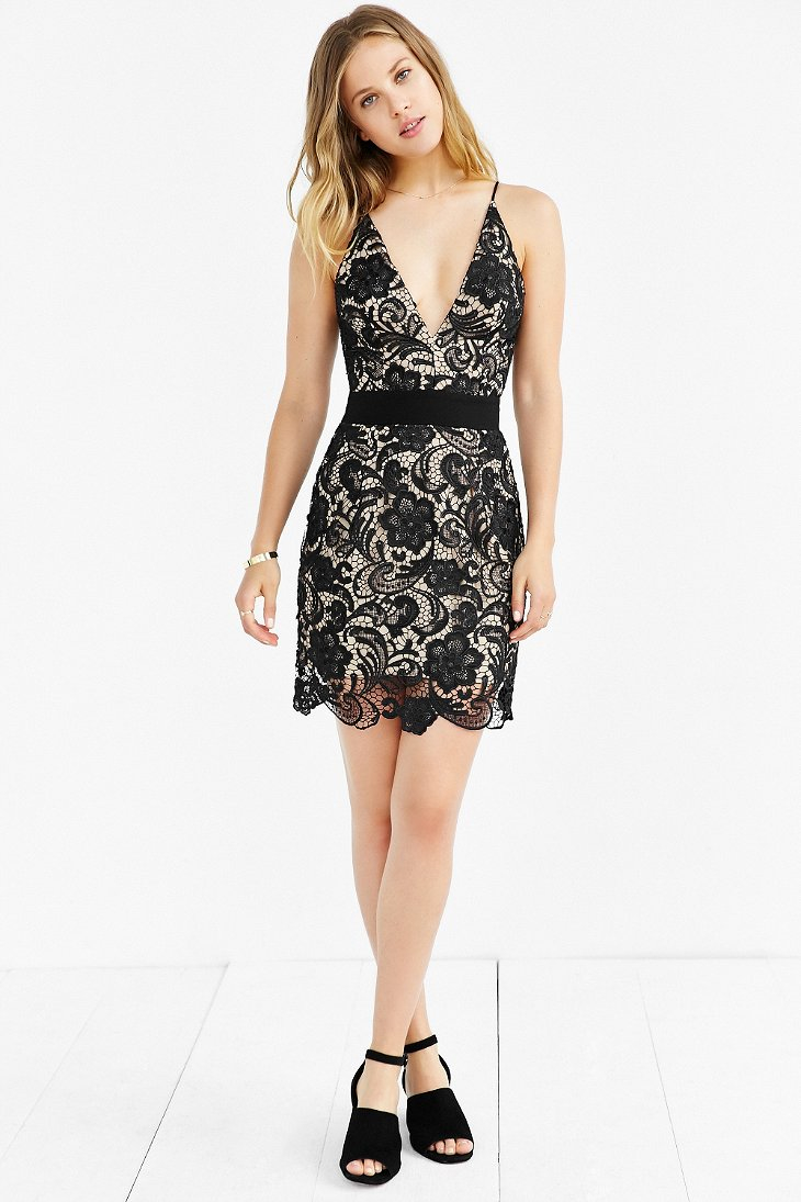 Lyst Dress The Population Ava Lace Dress In Black