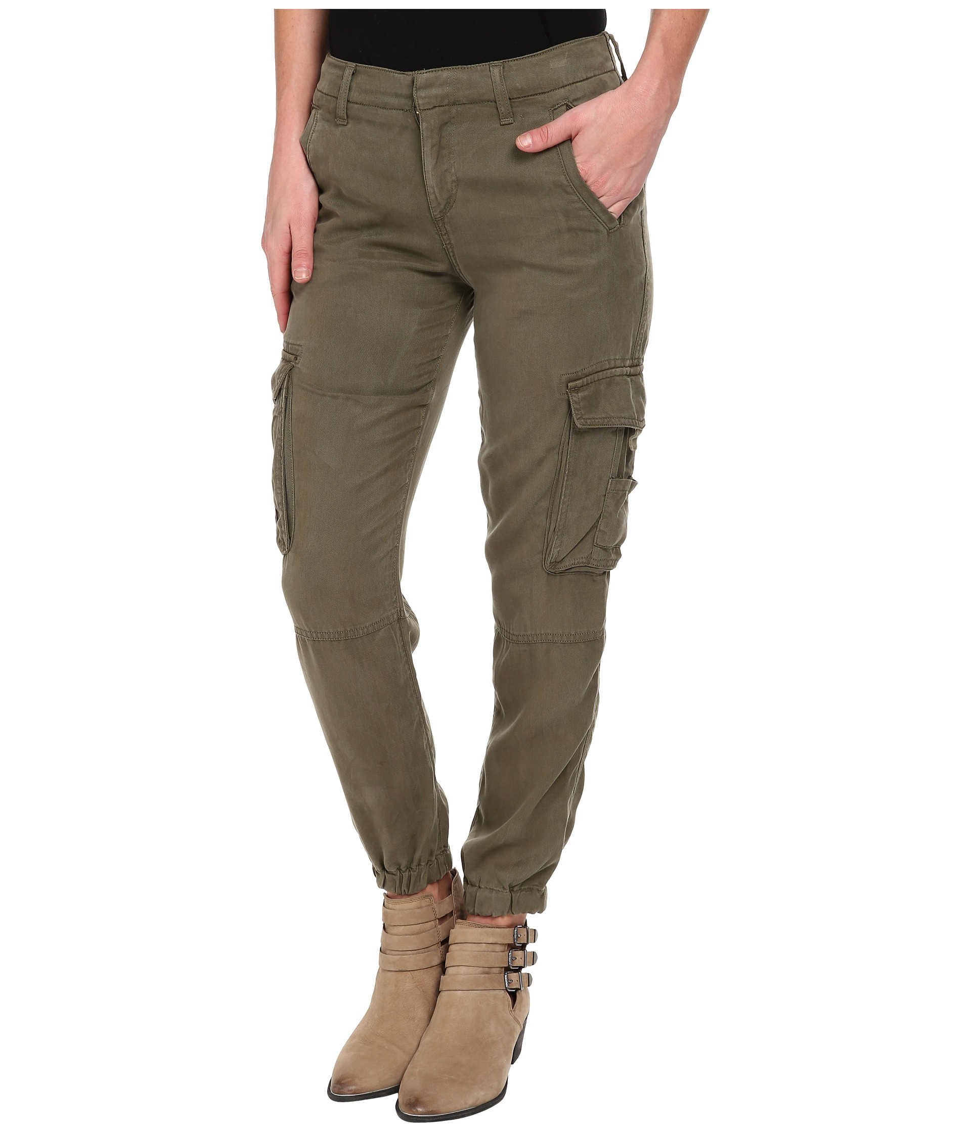 Lucky brand Tencel Cargo Pants in Green | Lyst