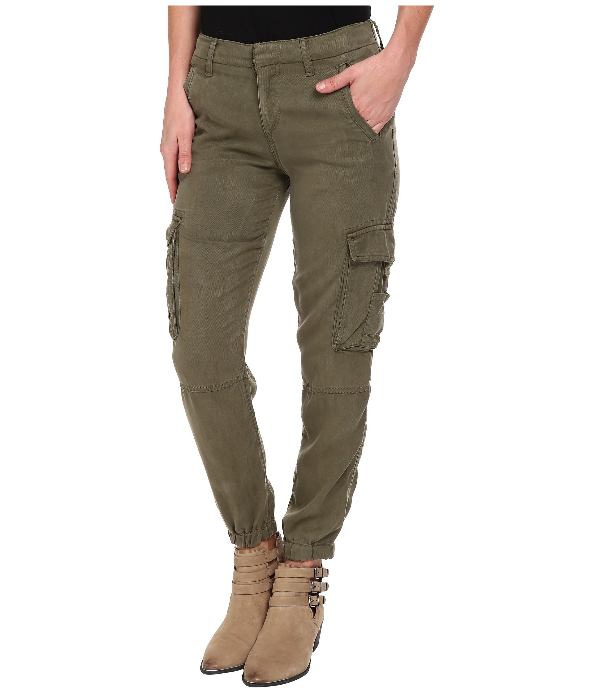 Lucky brand Tencel Cargo Pants in Green | Lyst