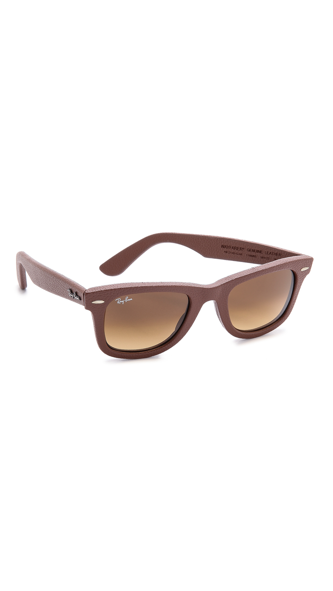 e5b1e01ad8 ... reduced lyst ray ban leather wrapped wayfarer sunglasses in brown for  men ada20 5b323