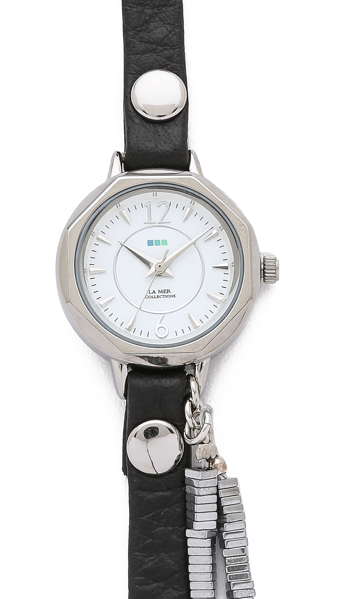 la mer collections highline chrome stones in black