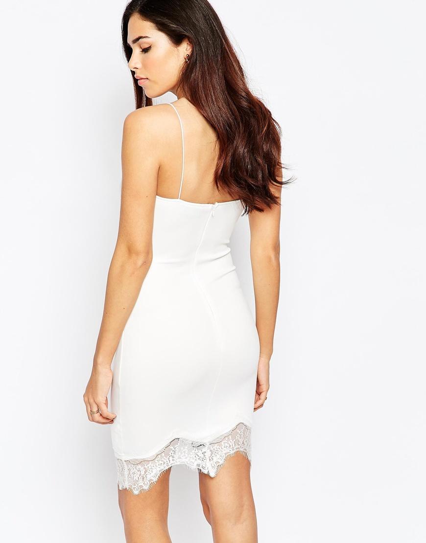 Ax Paris Lace Cami Dress - White AX PARIS Lq9oMG