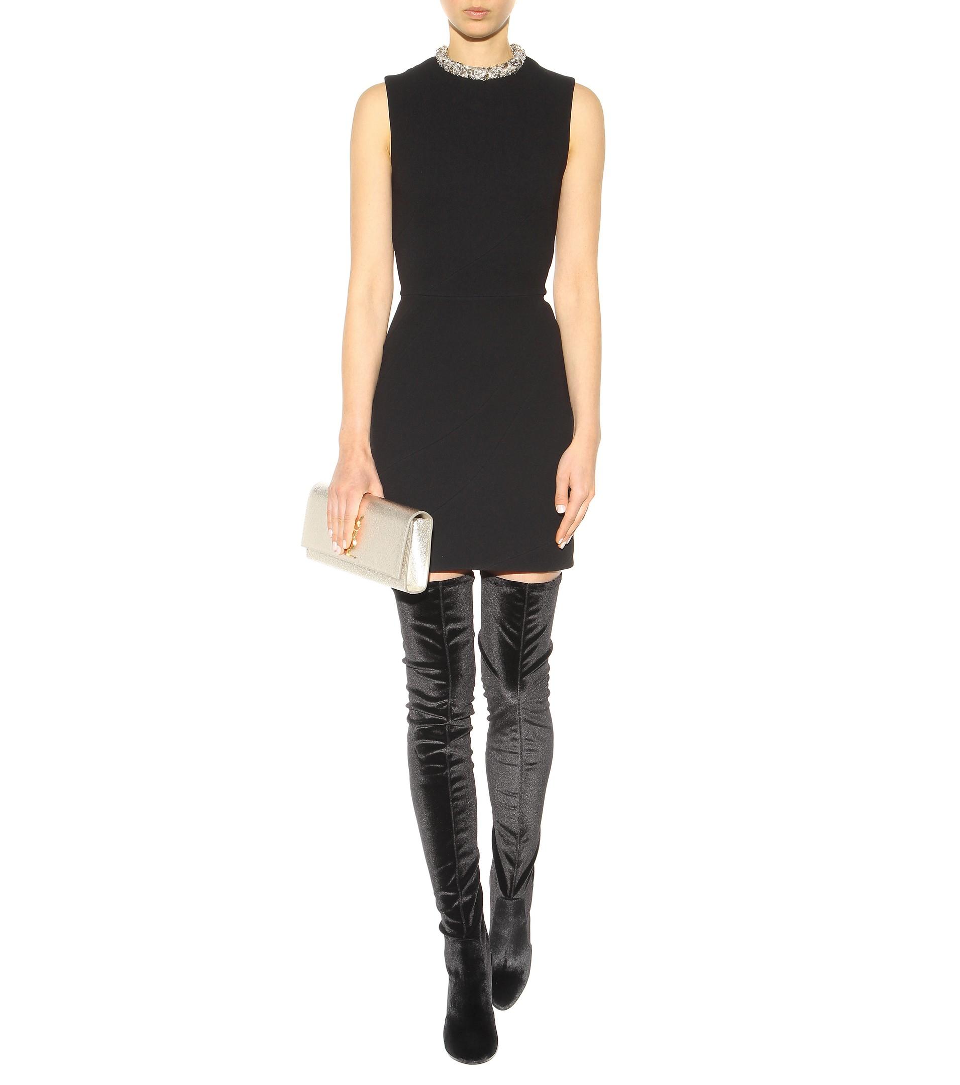 Aquazzura Velvet Over-The-Knee Boots in Black | Lyst