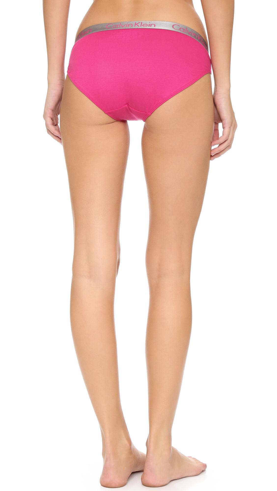 cf9b5220c0d Lyst - Calvin Klein Radiant Cotton Bikini Briefs in Pink