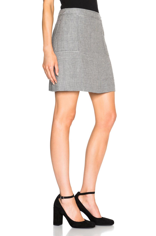 a p c gingham mini skirt in blue lyst