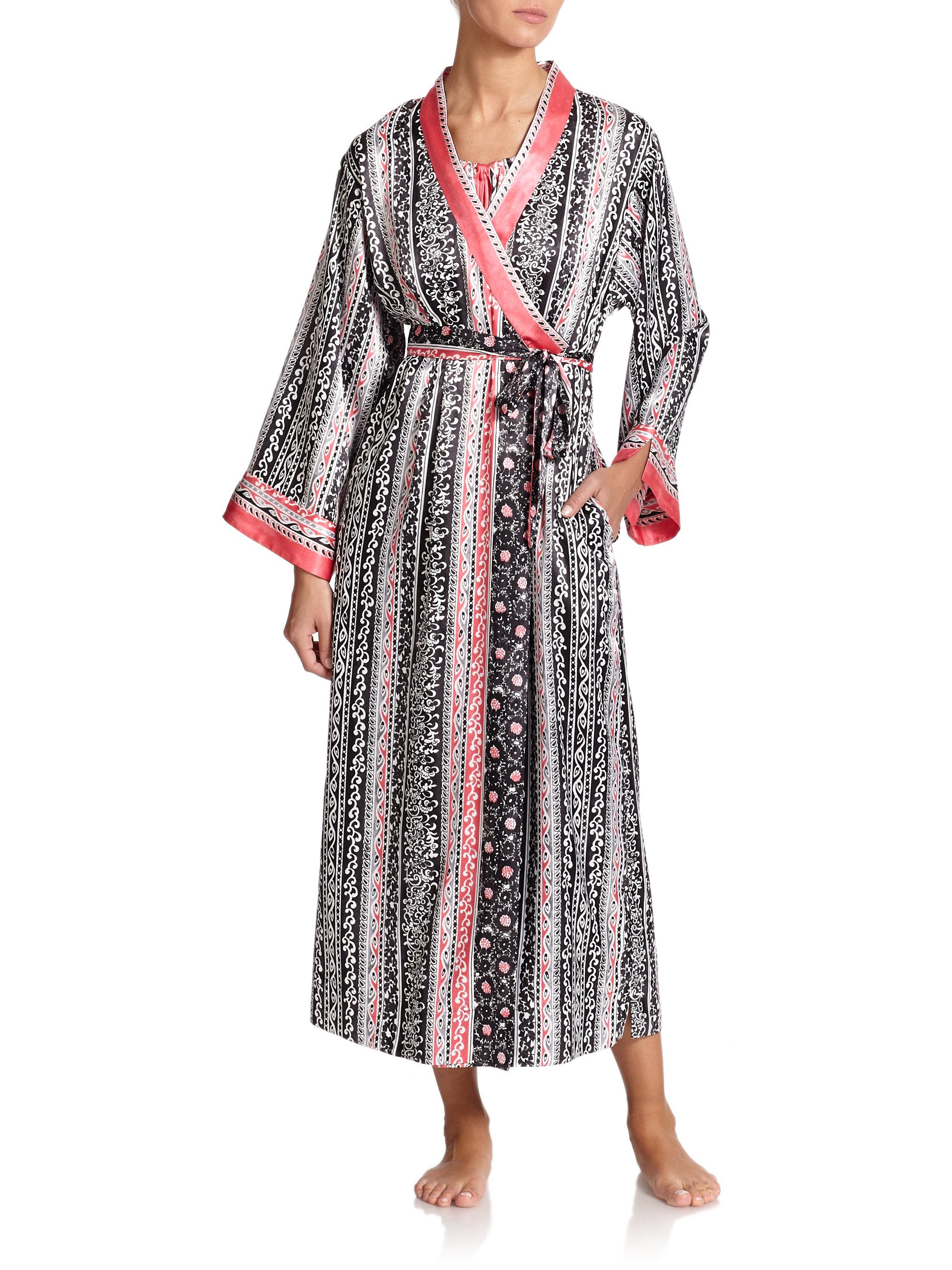 Oscar de la renta Balinese Vines Robe in Pink (MULTI)  Lyst