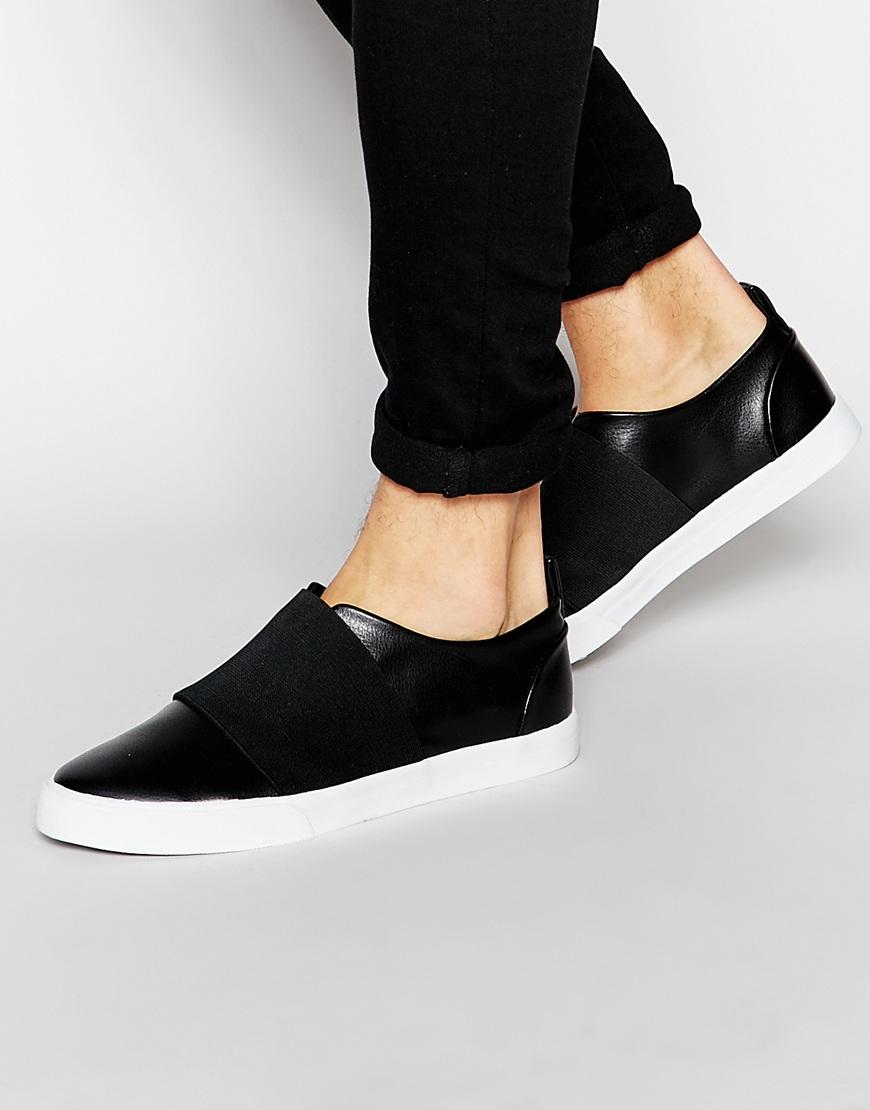 ASOS Slip On Sneakers In Black